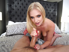 Strikingly sexy blonde girl wants your dick in POV