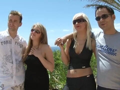 Euro foursome group sex with cumshots in sunny Spanish Mallorca