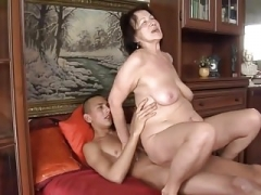 Saggy Breasts Aged Granny And moreover Guy