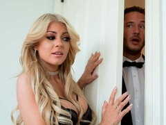 Glamorous MILF in stockings Kayla Kayden is trying double penetration