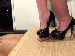 girl latisha sky stilettos stomp shoesjob