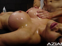 Jasmine Jae Busty Brit Gets A Full Body Massage