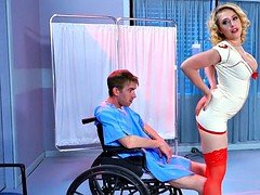 Blonde Nurse knows how to make Him Feel Better