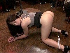 Babe lessened to a three holed whore