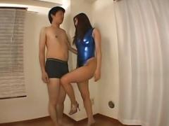 Satsuki high hip swimsuit assjob