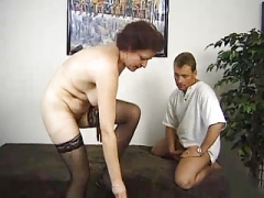 Surprise Three-way With A German Granny