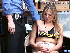 blond nubile Thief pounded By Security Officer
