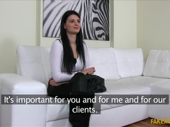 Fake Agent (FakeHub): Black-Haired Babe is Camera Shy