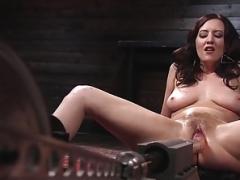 Kinky Goddess Cherry Torn Submits to Banging Machines