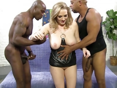 Painful BBC Backdoor And Double penetration With Vicky Vixen