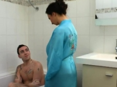 French Mom i`d like to fuck bathe her shy stepson PT1- More On HDMom i`d like to fuckCam.com