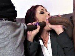 Busty Cougar Tiffany Mynx Handles Two BBC