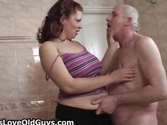 Aroused grandpa loves having sex with cute part4