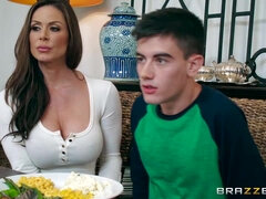 Stunning big breast mom Kendra Lust cheating with her stepson