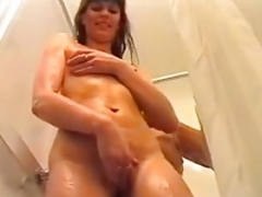 Danish inexperienced girl gets fucked in the shower