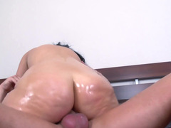 Euro sexueach and ally available mom is shining from each and all the oil it is covering her body