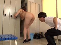 gorgeous woman teacher writhes in high leg d feature section 2