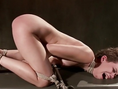 Brand New Girl in Brutal Bondage with Extreme Torment!!