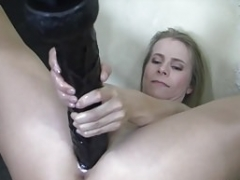 Pumped up Mature Blonde Huge Vibrator Won't Fit