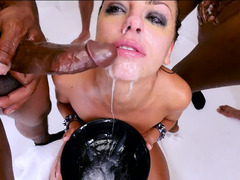 Oral hoe Adriana Chechik gagged by tons of large phalluses