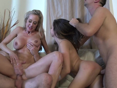 A pair of couples are having a kinky foursome together