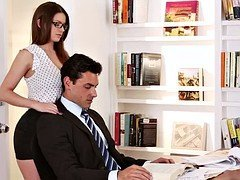 Attractive secretary with glasses asks a huge salary