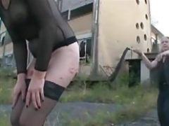 harsh outdoor humiliation