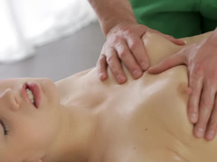 A blonde gets a utterly sexy rub from an utterly skilled masseur