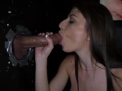 Dillion Carter does a amazing job pleasuring gloryhole love tools
