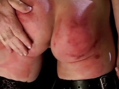 Maid tooshie spanked