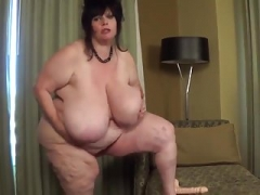 Large Tit Real bbw Rides Toy