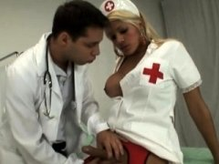 Nurse shemale with hooters gets her asshole fucked positively nice