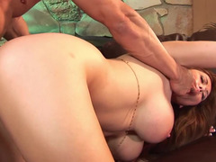 A boobalicious Asian that loves flag pole is getting ejaculation in her mouth