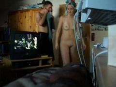 Nice-looking blonde outdoor pisser on hidden camera