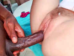 Delicious cutie Chastity Lynn takes on a large black dick outdoors