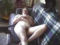 On Sofa Naked