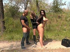 Harnessed make love whore