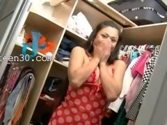It's totally lovely vid of Exotic legal teen in shoes teasing in a closet