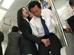 Far eastern Handjob In Bus