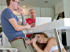 Alexis Adams seduces her boyfriend's less seasoned brother