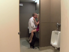 Public bathroom bang with hot blonde chick Madison Scott