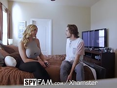 SpyFam Stepson gets down and dirty big-breasted stepmom Olivia Austin