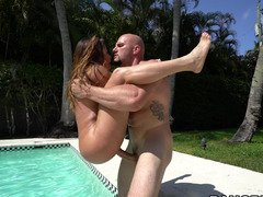 Pool banging with a fine ass Latina lady that loves sizeable dick