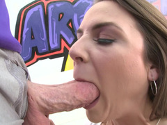 A brunette that loves fuck tool is getting her clothes off for her partner