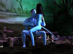 Avatar kitten anal fucked by large blue ramrod