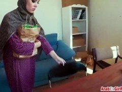 Alluring Arab slut fucked hard for the cash