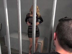 Hot jailbird step mom gives up muff to stepson for bailing her out of jail