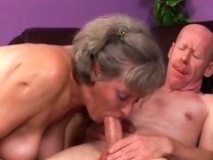 Granny plays with herself and a fella,very wet