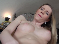 A underweight thing with puffy nipples is seen masturbating today
