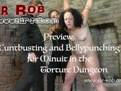 Cunt Busting and Belly Punching Punishment for Minuit - Sir Rob and Kristin